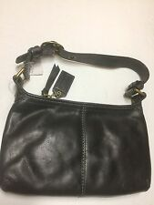 COACH BRAND NEW WITH TAG Black Leather Shoulder Hobo bag Purse