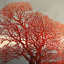 Original Art – FLAME TREE DREAMING Sally Thompson - Large 110x110 cm ..AMAZING !