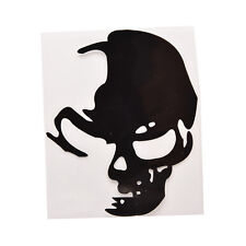 1 Pcs Skull Car Motorcycle Sticker Label Skull Stickers Accessories Black GE