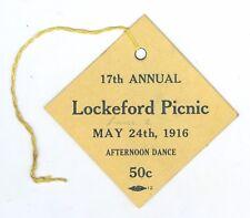 May 24, 1916 Lockeford, California Picnic/Dance Ticket, 50 Cents