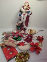 Huge Vintage Christmas Junk Drawer Lot Ornaments and decorations A6