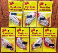 Seven Packs ~ Arkie Blood-Line Trailer Hooks, 3 Pk ~ Nib