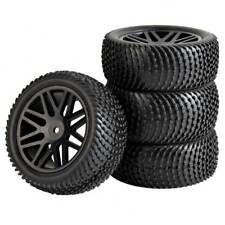 RC 66086-66096 Rubber Tires & Plastic WheeI 2 Front 2 Behind For HSP 1:10 Buggy