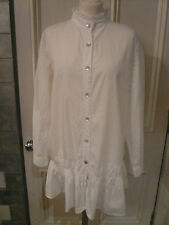"NEW long shirt M 12 ""laundry"" pristine white stylish beautiful elegant soft feel"