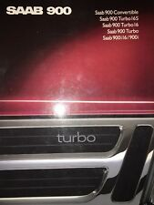 Saab 900 Turbo Glossy Sales Brochure - 61 pages of info & AMAZING photos 1989