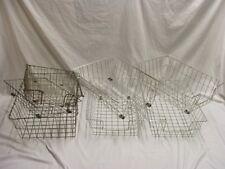 Vintage Metal Wire Mid-Century Tray Desk Basket Holder Lot of 7 assortment