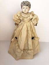 Antique German Tin/Metal Minerva (?) Doll. Repainted and Restored