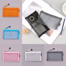 Portable Transparent Storage Pouch Makeup Bag Mesh Cosmetic Pencil Case Travel