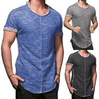 ❤️ Mens Slim Fit V Neck Short Sleeve Muscle Tee Shirt Casual T-shirt Tops Blouse