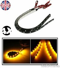4X 30 cm 18 SMD 3528 LED Flexible STRIP LAMPADE AUTO LUCE ARANCIONE IMPERMEABILE 12V