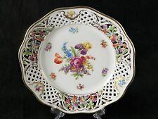 """Schumann Bavaria Dresden Empress Reticulated Flower Serving Plate Gold Rim 9.5 """""""