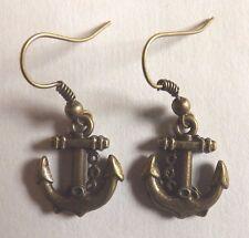 Boucles d'oreilles bronze ancre marin 18x16 mm