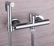 Bathroom Toilet Brass Handheld Bidet Shattaf Sprayer + Hot&Cold Mixer Valve NEW