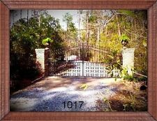 Custom Built Driveway Entry Gate 12 Ft Wide Double Swing. Fencing, Handrails Bed
