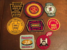Vintage Patch Lot of 8, NRA, Skeet, Sportmans Club And Others