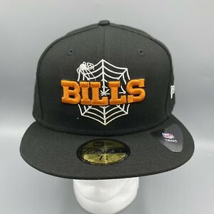 New Era Buffalo Bills 59FIFTY Fitted Hat Blacked Out Halloween Edition 7 5/8