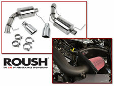 2011-2014 Mustang V6 3.7 ROUSH Axle Back Exhaust & Cold Air Intake 421145 421240