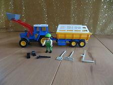 Playmobil 3078 Trecker Traktor mit Erntewagen für Bauernhof Reiterhof Ponyhof