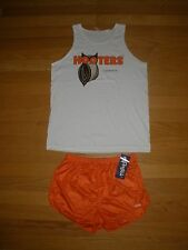 NEW RARE UNISEX HOOTERS TANK/DOLFIN SHORT HALLOWEEN COSTUME CLEARWATER FL XL/MED