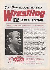 AWA WRESTLING PROGRAM SIGNED MAD DOG VACHON BUTCHER VACHON WWF WWE HOF'ER LOOK!!