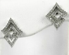 "Diamond Earrings 14k White Gold with 0.45ct total ""CLOSE-OUT"""