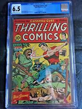 THRILLING COMICS #42 CGC FN+ 6.5; OW-W; Classic Japanese WWII by Schomburg!