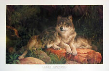 "Larry Fanning ""Soul Mates"" Grey Wolves Poster - Lot of 40 posters!"