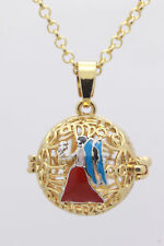 Harmony Ball Pendant Lockets Essential Oil Perfume Diffuser Necklace Virgo