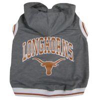 Texas Longhorns NCAA Pets First Dog Pet Hoodie Sweatshirt Gray Sizes XS-L