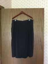 Women's Tamotsu New York Navy Blue Lined Skirt Size 1 (plus size)