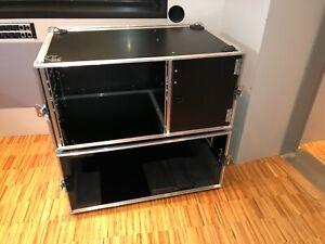 "2x Case Flightcase Gitarrenamp mit 19"" Rack"