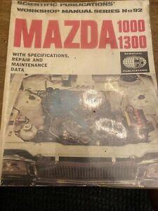 1974 MAZDA 1000 1300 Workshop Manual Coupe & Sedan