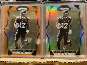 2017 Prizm - Dede Westbrook RC Lot - Silver Prizm & Orange Parallel #213/275