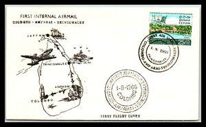 GP GOLDPATH: SRI LANKA COVER 1966 FIRST FLIGHT COVER _CV699_P25