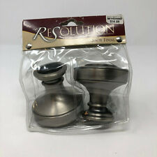 NEW NIP ReSolution Pewter Knob Curtain Rod Finials