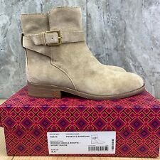 Tory Burch Perfect Sand Brooke Suede Ankle Bootie Size 8.5 Womens