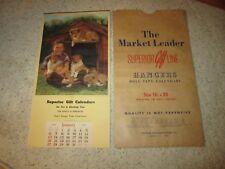 1952 Superior Gift Line Salesman Sample Calendars 8 Litho's W/Sleeve!!!