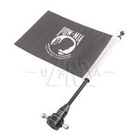 Luggage Rack Bracket Mount Pole POW MIA Flag Black For Harley Sportster 883 1200