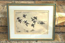 """WALTER BOHL SIGNED ETCHING """"BLUE WINGS"""" ARTIST DUCK STAMPS"""