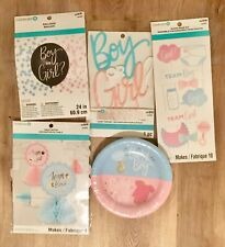 Baby Gender Reveal Party Decorations Supplies Balloon~Cake Topper~Plates+ More