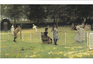 Kunstkarte / Postcard - Lavery: Die Tennispartie /  Tennis