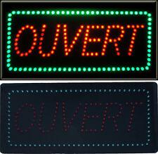Panneau Enseigne lumineuse à LED OUVERT Rouge/ vert 48 x 24 x 2.5 cm