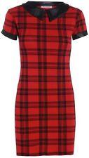 Ladies Red Tartan Cap Sleeve Bodycon Midi Dress/ Braw top legging swing dress