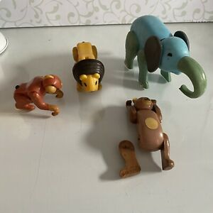 Vintage Fisher Price Little People Circus Train Animals Lot of 4