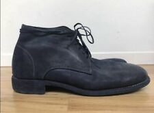 GUIDI Italian Men's Blue Suede Lace Up Boots Size 11
