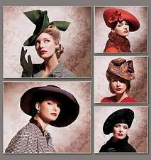 Patrones de corte sombreros 1930 - 1940