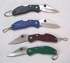 6 Bulk Lot Serrated Folding Lock Blade Knives W Ball Key Chain pocket knife new