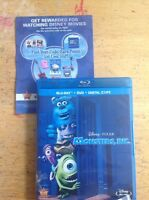 Monsters, Inc. (Blu-ray,3-disc,2009)Authentic Disney RELEASE -DVD not included