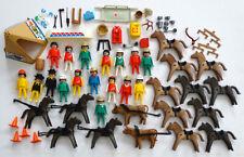 1974 GEOBRA Vintage PLAYMOBIL Toy PEOPLE ANIMAL TEEPEE Figures Lot / 120+ Pieces