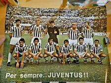 POSTER MANIFESTO - SQUADRA DI CALCIO JUVENTUS STAGIONE 1972-73 -